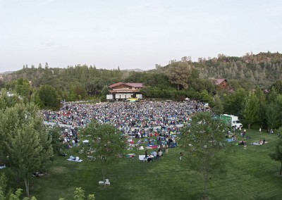 Ironstone Amphitheatre - fisheye from back of venue