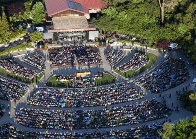 Ironstone Amphitheatre - aerial photo
