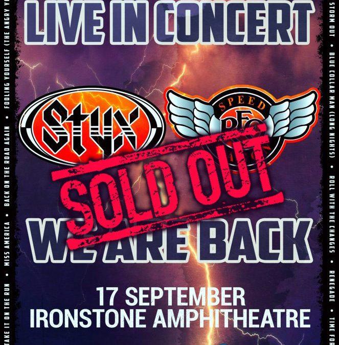 Styx & REO Speadwagon – 9/17/21 – Ironstone